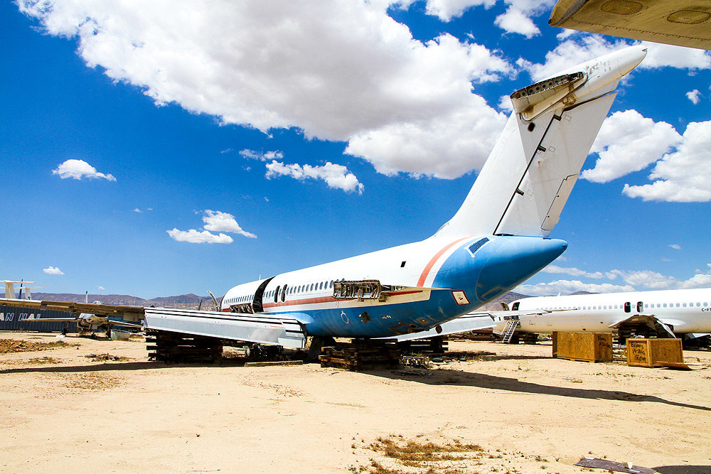 Our DC-9 at the aircraft boneyard in the Mojave desert