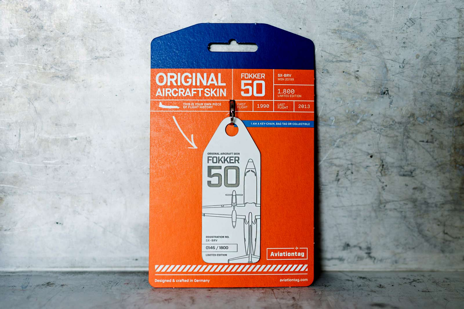 Buy the F50 Aviationtag now!