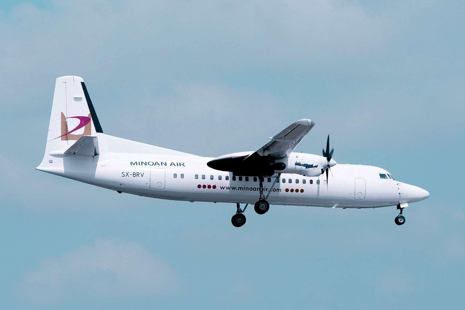 Fokker 50 SX-BRV up in the air