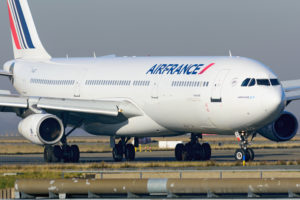 Air France A340 up in the air