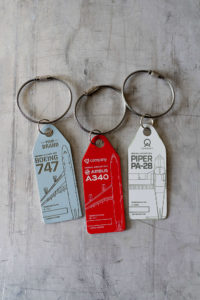 AAviationtags come in various colours and from various aircraft types.