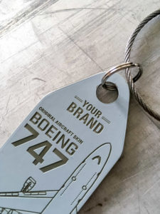 We can laser engrave your logo to the front of the Aviationtag.