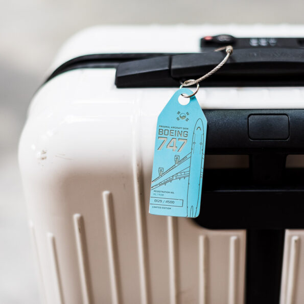 Aviationtag on a suitcase