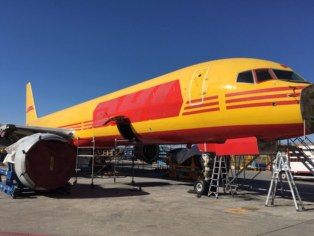 DHL Boeing 757 in Madrid