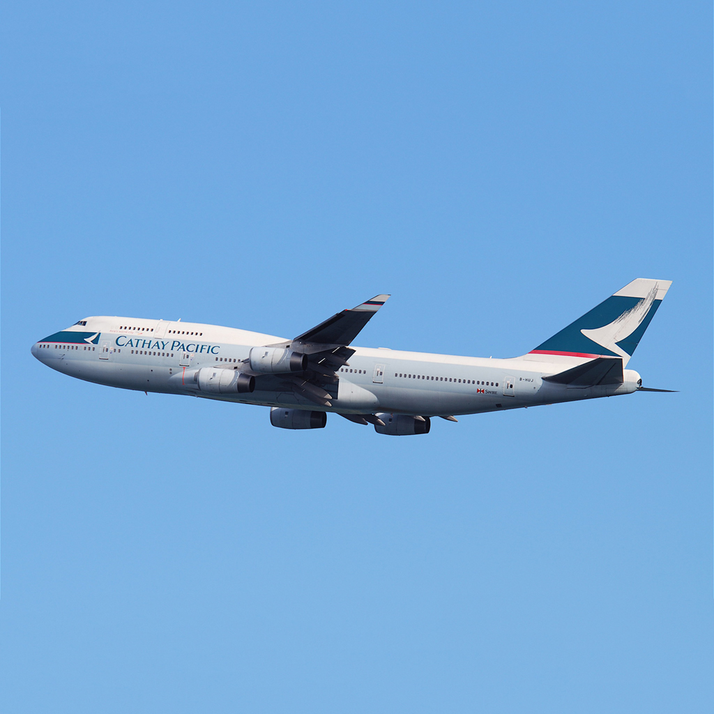 Cathay Pacific Boeing 747 B-HUJ Aviationtag