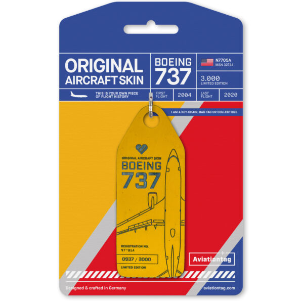 Southwest Airlines Boeing 737 Aviationtag N7705A